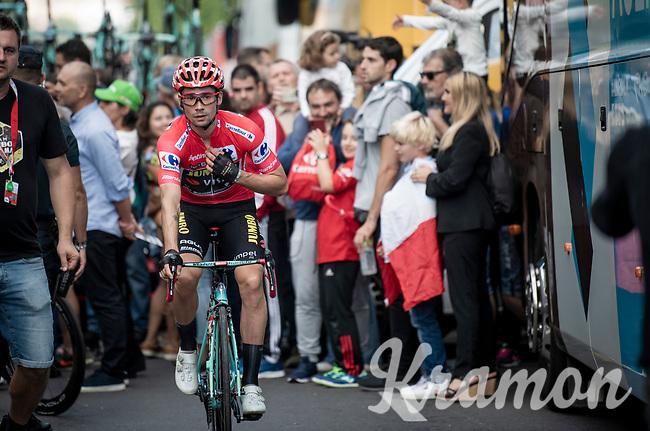 Primoz Roglic (SVK/Jumbo-Visma) at the start of teh last stage of the 2019 Vuelta<br /> <br /> Stage 21: Fuenlabrada to Madrid (107km)<br /> La Vuelta 2019<br /> <br /> ©kramon