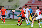 Lee Seungwoo of South Korea (C) in action during the AFC Asian Cup UAE 2019 Round of 16 match between South Korea (KOR) and Bahrain (BHR) at Rashid Stadium on 22 January 2019 in Dubai, United Arab Emirates. Photo by Marcio Rodrigo Machado / Power Sport Images