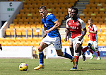 St Johnstone v Fleetwood Town…24.07.21  McDiarmid Park<br />Callum Hendry gets away from <br />Picture by Graeme Hart.<br />Copyright Perthshire Picture Agency<br />Tel: 01738 623350  Mobile: 07990 594431
