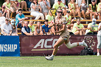 NEWTON, MA - MAY 22: Cara Urbank #26 of Boston College looks to pass during NCAA Division I Women's Lacrosse Tournament quarterfinal round game between Notre Dame and Boston College at Newton Campus Lacrosse Field on May 22, 2021 in Newton, Massachusetts.