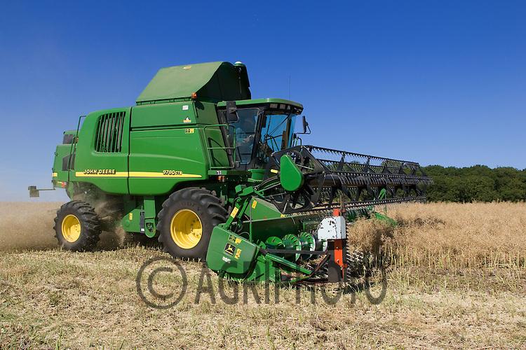 John Deere Combine Harvesting Oil Seed Rape