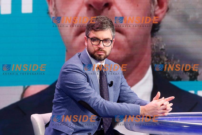 The director of the newspaper Domani Stefano Feltri during the tv show Porta a Porta. <br /> Rome (Italy), November 19th 2020<br /> Photo Samantha Zucchi Insidefoto