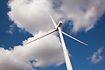 Bureau County, IL<br /> Wind mill against cumulus clouds on the Crescent Ridge windfarm