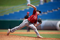 Dominic Scavone (13) of Bishop Moore High School in Orlando, FL during the Perfect Game National Showcase at Hoover Metropolitan Stadium on June 18, 2020 in Hoover, Alabama. (Mike Janes/Four Seam Images)