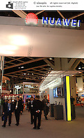 Huawei counter at the ITU Telecom 2002 exhibition at the HK Exhibition Center.<br />06-DEC-02