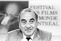 """August 27, 1987 File Photo - Montreal (Qc) Canada -  French producer Anatole Dauman at 1987 Montreal  World Film Festival.<br /> <br />  He produced films by Jean-Luc Godard, Robert Bresson, Wim Wenders, Nagisa Oshima, Andrei Tarkovsky, Chris Marker, Volker Schlöndorff, Walerian Borowczyk, and Alain Resnais.<br /> <br /> He was a principal figure in Argos Films, a company that was a very important vehicle in creating opportunities for the """"Left bank"""" filmmakers to emerge from the overall Nouvelle Vague."""