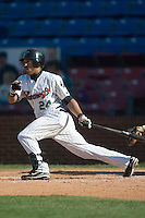 Winston-Salem left fielder David Cook (24) follows through on his swing versus Frederick at Ernie Shore Field in Winston-Salem, NC, Sunday, May 6, 2007