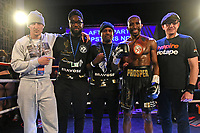 Kay Prospere defeats Bilal Rehman to win the English Super Lightweight Title during a Boxing Show at the Dunstable Conference Centre on 7th March 2020