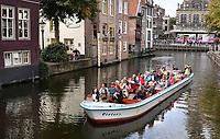 Nederland  Alkmaar  - September 2020 . Rondvaart door de binnenstad.  Foto : ANP/ Hollandse Hoogte / Berlinda van Dam