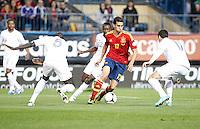 Spain's national team Alvaro Arbeloa against France's national team Maxime Gonalons during match. October 16, 2012. (ALTERPHOTOS/Alvaro Hernandez) /NORTEPhoto