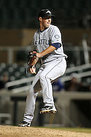 Peoria Javelinas pitcher Forrest Snow #36 during an Arizona Fall League game against the Salt River Rafters at HoHoKam Park on November 4, 2011 in Mesa, Arizona.  Salt River defeated Peoria 13-4.  (Mike Janes/Four Seam Images)