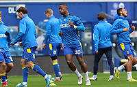 Paul Kalambayi of AFC Wimbledon warming up during AFC Wimbledon vs Shrewsbury Town, Sky Bet EFL League 1 Football at The Kiyan Prince Foundation Stadium on 17th October 2020
