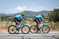 Andrey Amador (CRI/Movistar) and  Marc Soler (ESP/Movistar)<br /> <br /> Stage 17: Pont du Gard to Gap (200km)<br /> 106th Tour de France 2019 (2.UWT)<br /> <br /> ©kramon