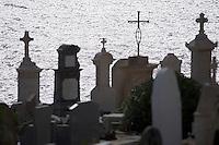 Europe/Provence-Alpes-Côte d'Azur/83/Var/Saint-Tropez: Le cimetière Marin et le Golfe de Saint-Tropez
