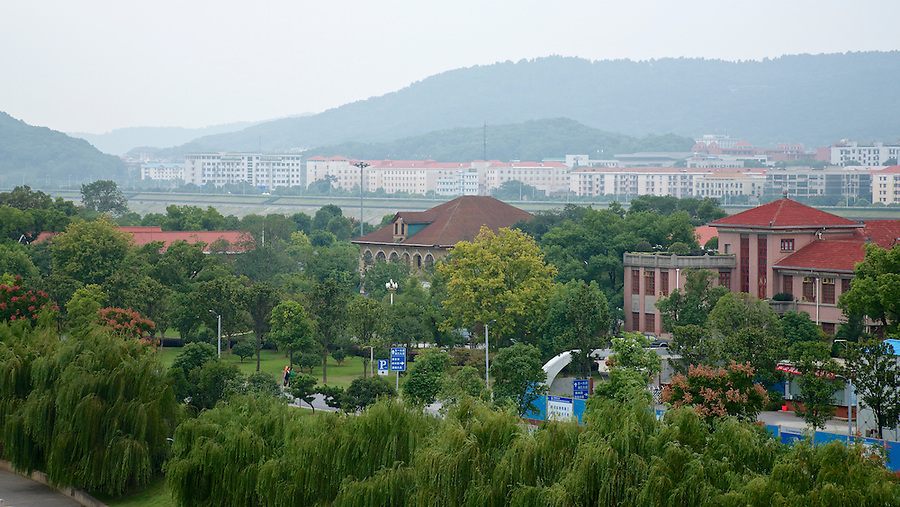 View Of Juzhou Island, Changsha, From The Bridge.  Residence Of The Commissioner Of Customs Is Centre, While The Newer Building Far Right Possibly On The Site Of HBM Consul's Residence.