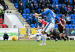St Johnstone v St Mirren…27.10.18…   McDiarmid Park    SPFL<br />Tony Watt misses from the penalty spot<br />Picture by Graeme Hart. <br />Copyright Perthshire Picture Agency<br />Tel: 01738 623350  Mobile: 07990 594431