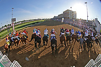 1st May 2021; Kentucky, USA;  Horses break from the starting gate during the 147th Running of the Kentucky Derby on May 1, 2021 at Churchill Downs in Louisville, Kentucky.