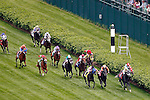 LOUISVILLE, KY - MAY 07: Camelot Kitten #9, ridden by Irad Ortiz Jr., wins the American Turf on May 7, 2016 in Louisville, Kentucky. (Photo by Jon Durr/Eclipse Sportswire/Getty Images)