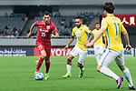 Shanghai FC Midfielder Akhmedov Odil (L) in action against Jiangsu FC Forward Alex Teixeira (R) during the AFC Champions League 2017 Round of 16 match between Shanghai SIPG FC (CHN) vs Jiangsu FC (CHN) at the Shanghai Stadium on 24 May 2017 in Shanghai, China. Photo by Marcio Rodrigo Machado / Power Sport Images