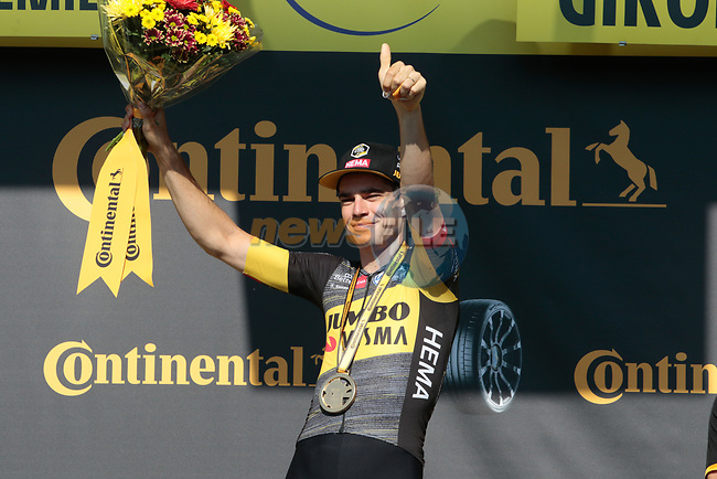Wout Van Aert (BEL) Jumbo-Visma wins Stage 20 of the 2021 Tour de France, an individual time trial running 30.8km from Libourne to Saint-Emilion, France. 17th July 2021.  <br /> Picture: Colin Flockton   Cyclefile<br /> <br /> All photos usage must carry mandatory copyright credit (© Cyclefile   Colin Flockton)
