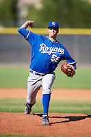 Kansas City Royals minor league pitcher Ashton Goudeau #59 during an instructional league game against the Seattle Mariners at the Peoria Sports Complex on October 2, 2012 in Peoria, Arizona. (Mike Janes/Four Seam Images)