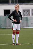 Tine Schrijvers of OHL pictured during the warm up before a female soccer game between Oud Heverlee Leuven and Femina White Star Woluwe  on the 5 th matchday of the 2020 - 2021 season of Belgian Womens Super League , Sunday 18 th of October 2020  in Heverlee , Belgium . PHOTO SPORTPIX.BE | SPP | SEVIL OKTEM
