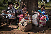 Local villagers gather at the weekly market Bangapal village in Chhattisgarh, India. Photo: Sanjit Das/Panos for The Times