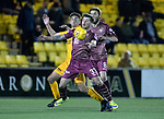 Livingston v St Johnstone…31.10.18…   Tony Macaroni Arena    SPFL<br />Matty Kennedy  holds off Shaun Byrne<br />Picture by Graeme Hart. <br />Copyright Perthshire Picture Agency<br />Tel: 01738 623350  Mobile: 07990 594431