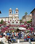 ITA, Italien, Lazio, Rom: Spanische Treppe und Kirche Trinita dei Monti | ITA, Italy, Lazio, Rome: Spanish Steps and church Trinita dei Monti