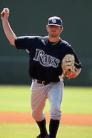 March 19th 2008:  Josh Butler of the Tampa Bay Devil Rays minor league system during Spring Training at the Raymond A. Naimoli Complex in St. Petersburg, FL.  Photo by:  Mike Janes/Four Seam Images