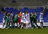 4th November 2020; Madejski Stadium, Reading, Berkshire, England; English Football League Championship Football, Reading versus Preston North End; Reading and Preston North End players in a heated argument during the 2nd half