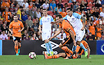 BRISBANE, AUSTRALIA - OCTOBER 30: Luke DeVere of the Roar and Tim Cahill of Melbourne compete for the ball during the round 5 Hyundai A-League match between the Brisbane Roar and Melbourne City at Suncorp Stadium on November 4, 2016 in Brisbane, Australia. (Photo by Patrick Kearney/Brisbane Roar)