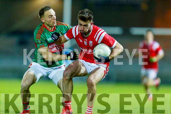 Darran O'Sullivan, Mid Kerry in action against Brendan O'Keeffe, East Kerry during the Kerry County Senior Football Championship Final match between East Kerry and Mid Kerry at Austin Stack Park in Tralee on Saturday night.