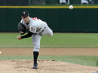 May 15, 2004:  Pitcher Chris Capuano of the Indianapolis Indians, Triple-A International League affiliate of the Milwaukee Brewers, during a game at Frontier Field in Rochester, NY.  Photo by:  Mike Janes/Four Seam Images