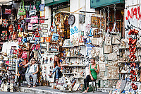Souvenir shop in the streets of Athens, Greece