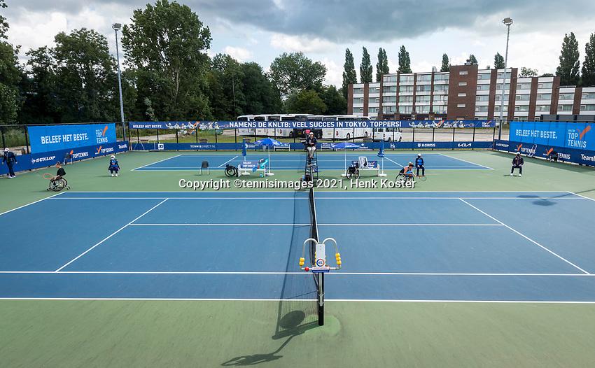 Amstelveen, Netherlands, 7 Augustus, 2021 National Tennis Center, NTC, NKR, National  Wheelchair Tennis Championships, Women's single final : Overall vieuw<br /> Photo: Henk Koster/tennisimages.com