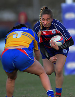 Action from the Horowhenua Kapiti women's rugby match between Rahui and Paraparaumu at Playford Park in Levin, New Zealand on Friday, 9 October 2019. Photo: Dave Lintott / lintottphoto.co.nz