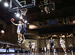 SIOUX FALLS, SD - MARCH 8: Charlie Easley #30 of the South Dakota State Jackrabbits goes for a layup against Oral Roberts during the Summit League Basketball Tournament at the Sanford Pentagon in Sioux Falls, SD. (Photo by Richard Carlson/Inertia)