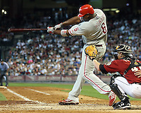 Phillies 1B Ryan Howard on Sunday May 25th at Minute Maid Park in Houston, Texas. Photo by Andrew Woolley / Four Seam Images.