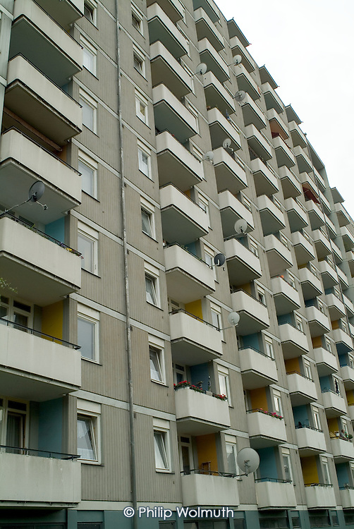 High-rise apartment block in the Kreuzberg district of former West Berlin