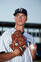 Tampa Yankees pitcher Ian Clarkin (15) poses for a photo before a game against the Bradenton Marauders on April 12, 2016 at George M. Steinbrenner Field in Tampa, Florida.  Tampa defeated Bradenton 9-3.  (Mike Janes/Four Seam Images)