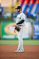 Clinton LumberKings first baseman Nick Zammarelli (34) during a game against the South Bend Cubs on May 5, 2017 at Four Winds Field in South Bend, Indiana.  South Bend defeated Clinton 7-6 in nineteen innings.  (Mike Janes/Four Seam Images)