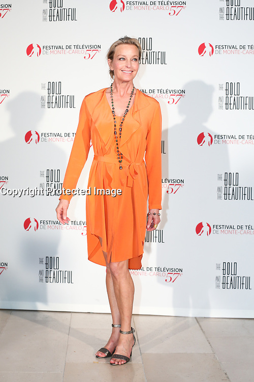 Monte-Carlo, Monaco, 18/06/2017 - 30th Anniversary of 'The Bold and the Beautiful' party Arrival Photocall at the Monte-Carlo Bay, Monaco, during the 57th Monte-Carlo Television Festival. Bo Derek # 30EME ANNIVERSAIRE DE 'AMOUR, GLOIRE ET BEAUTE'