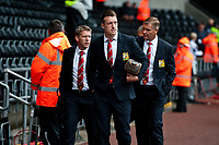 Saturday 17 August 2013<br /> <br /> Pictured: Manchester United arrive at the Liberty<br /> <br /> Re: Barclays Premier League Swansea City v Manchester United at the Liberty Stadium, Swansea, Wales