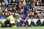 Aleix Vidal of FC Barcelona runs with the ball during the La Liga 2017-18 match between FC Barcelona and Deportivo La Coruna at Camp Nou Stadium on 17 December 2017 in Barcelona, Spain. Photo by Vicens Gimenez / Power Sport Images