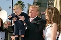 LOS ANGELES - JAN 16:  Barron Trump, Donald Trump, Melania Trump at the Donald J Trump Star Ceremony on the Hollywood Walk of Fame on January 16, 2007 in Los Angeles, CA