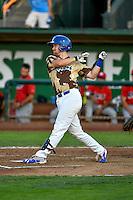 Brock Carpenter (25) of the Ogden Raptors at bat against the Orem Owlz in Pioneer League action at Lindquist Field on July 29, 2016 in Ogden, Utah. Orem defeated Ogden 8-5. (Stephen Smith/Four Seam Images)