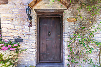 BNPS.co.uk (01202 558833)<br /> Pic: Strutt&Parker/BNPS<br /> <br /> Pictured: Main entrance. <br /> <br /> An 18th century cottage in 'the prettiest village in England' is on the market for £675,000.<br /> <br /> Number 2 School Lane is Grade II listed, built with beautiful Cotswold stone and filled with character features like exposed timber beams and original fireplaces.<br /> <br /> The attractive three-bedroom property is in the highly sought after Wiltshire village of Castle Combe.<br /> <br /> The quintessentially English village has been used regularly as a film location and the houses are mostly made with honey-coloured Cotswold stone.
