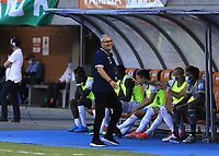 ENVIGADO- COLOMBIA, 05-08-2021: Envigado y Atlético Bucaramanga en partido por la tercera ronda de clasificación como parte de la Copa BetPlay DIMAYOR 2021 jugado en el estadio Polideportivo Sur del municipio de Envigado. / Envigado and Atletico Bucaramanga in match for the third qualifying round as part of   BetPlay DIMAYOR 2021 Cup, played at Polideportivo Sur stadium in Envigado. Photo: VizzorImage / Juan Augusto Cardona  / Contribuidor