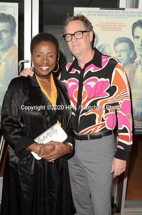 """LOS ANGELES - MAR 2:  Jonie Bovill, Kirk Bovill at the """"The Burnt Orange Heresy"""" Special Screening at the Linwood Dunn Theater on March 2, 2020 in Los Angeles, CA"""